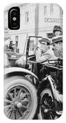 Silent Film: Automobiles IPhone Case