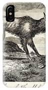 1778 Falkland Islands Wolf Fox Extinct IPhone Case