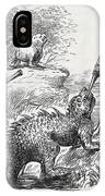 1861 Punch Dinosaurs & Comet Cartoon IPhone Case