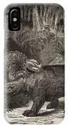 1863 Figuier Iguanodon And Megalosaurus IPhone Case