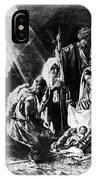 1898 Artwork Of Nativity Scene At Nativity Church IPhone Case