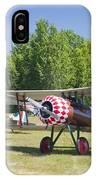 1917 Nieuport 28c.1 World War One Antique Fighter Biplane Canvas Poster Print IPhone Case