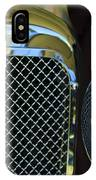 1932 Alvis-6 Speed 20 Sa Grille Emblem IPhone Case