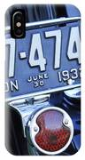 1932 Ford Model 18 Roadster Hotrod Taillight IPhone Case