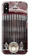 1934 Bentley 3.5-litre Drophead Coupe Grille IPhone Case