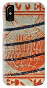 1934 U. S. Air Mail Dull Orange Stamp IPhone Case