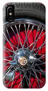 1938 Mg Ta Spare Tire IPhone Case