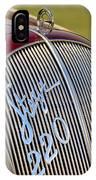 1938 Steyr 220 Glaser Roadster Grille Emblem IPhone Case