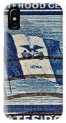 1946 Iowa Statehood Stamp IPhone Case