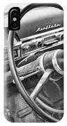 1951 Nash Ambassador Interior Bw IPhone Case