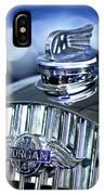 1952 Morgan Plus 4 Hood Ornament And Emblem IPhone Case