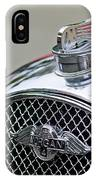 1953 Morgan Plus 4 Le Mans Tt Special Hood Ornament        IPhone Case