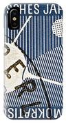 1957 - 1958 East German Sputnik Stamp IPhone Case