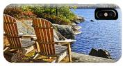 Adirondack Chairs At Lake Shore IPhone Case