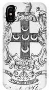 Bookplate, 18th Century IPhone Case