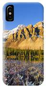Bow Lake And Crowfoot Mountain IPhone Case