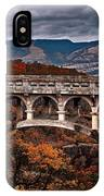 Bridge Over Autumn IPhone Case