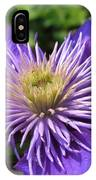 Double Clematis Named Crystal Fountain IPhone Case