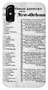 Hunters Of Kentucky, 1815 IPhone Case
