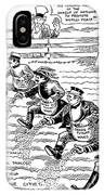 League Of Nations Cartoon - To License For Professional Use Visit Granger.com IPhone Case