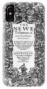New Testament, King James Bible IPhone Case