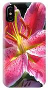 Oriental Lily Named La Mancha IPhone Case