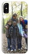 Parents And Children In A Wood IPhone Case
