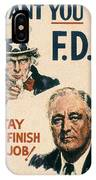 Presidential Campaign, 1940 IPhone Case