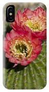 Red Cactus Flowers IPhone Case