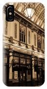 Sepia Toned Image Of Leadenhall Market London IPhone Case