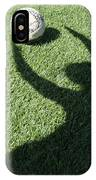 Shadow Playing Football IPhone Case