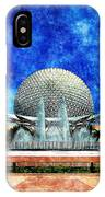 Spaceship Earth And Fountain Of Nations IPhone Case