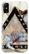 Triangle Factory Fire IPhone Case