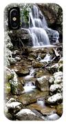 Winter Waterfall Back Fork Of Elk River IPhone Case