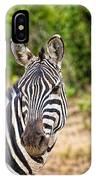 Zebras In The Masai Mara IPhone Case