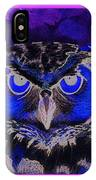 2011 Dreamy Horned Owl Negative IPhone X Case