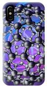 Buckyball Molecule, Artwork IPhone Case