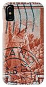 25 Lire Italian Stamp - Milano Cancelled IPhone Case