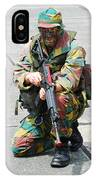 A Paratrooper Of The Belgian Army IPhone Case