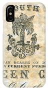 Confederate Currency IPhone Case