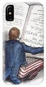 Election Cartoon, 1876 IPhone Case