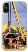 Gas Line Construction IPhone Case