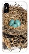Robins Nest With Eggs IPhone Case