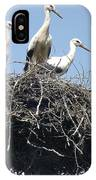 3 Storks In The Nest. Lithuania IPhone Case