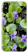 Viola Odorata (sweet Violets) IPhone Case