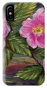 3 Wild Roses IPhone Case