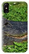 34- Flower Gator IPhone Case