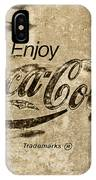 Coca Cola Sign Grungy Retro Style IPhone Case