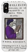 Euclid, Ancient Greek Mathematician IPhone Case