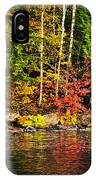 Fall Forest And River Landscape IPhone Case